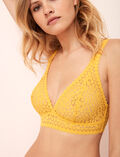 Backless triangle bra multi-position Palm tree yellow Monica