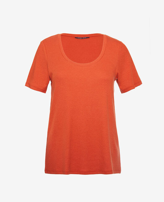 Short-sleeved t-shirt Cognac brown Dimanche