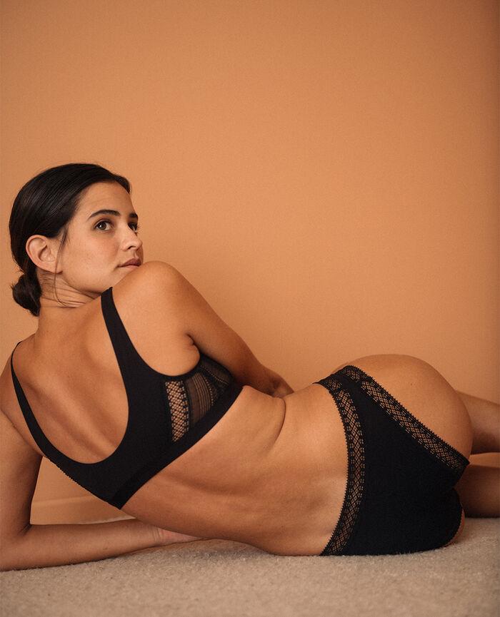 Soft bustier bra Black Eclat - loungerie