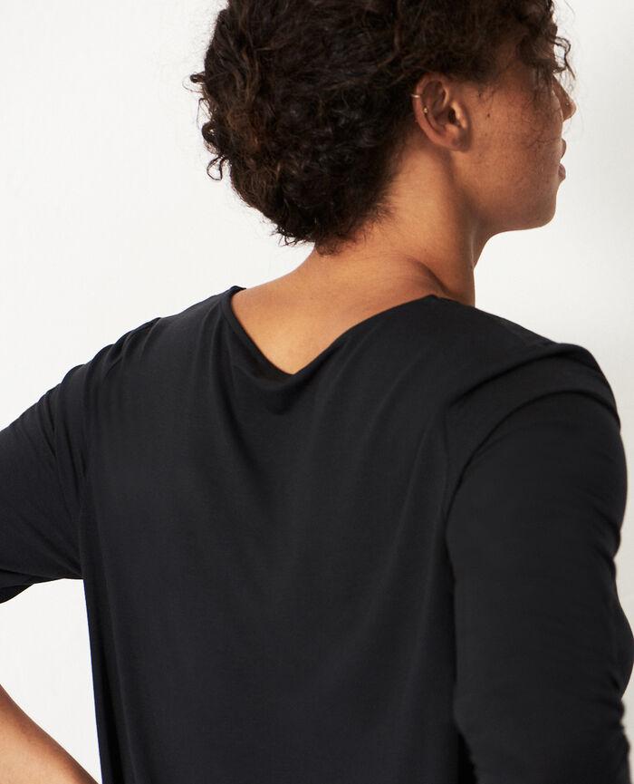 Long-sleeved t-shirt Black Douceur
