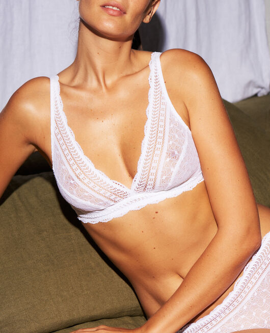 Soft cup bra White Duo