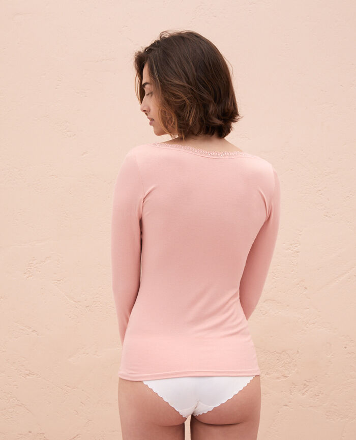 Top manches longues Rose nuage Lovely