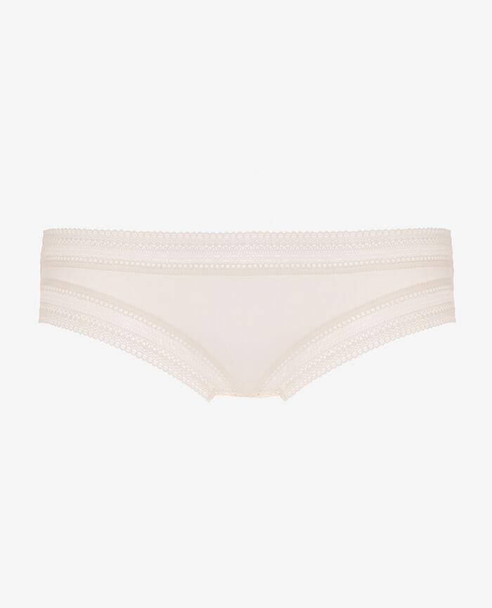 Culotte taille basse Blanc rosé Eclat