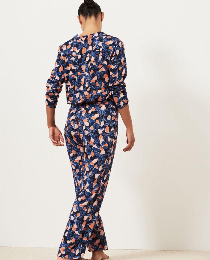 Pantalon Aquarelle bleu orage Attitude imprime