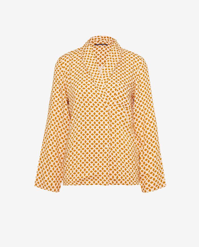 Pyjama jacket Cumin yellow geometric Pyjmania