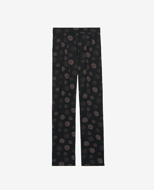 Trousers Black relief Attitude imprime