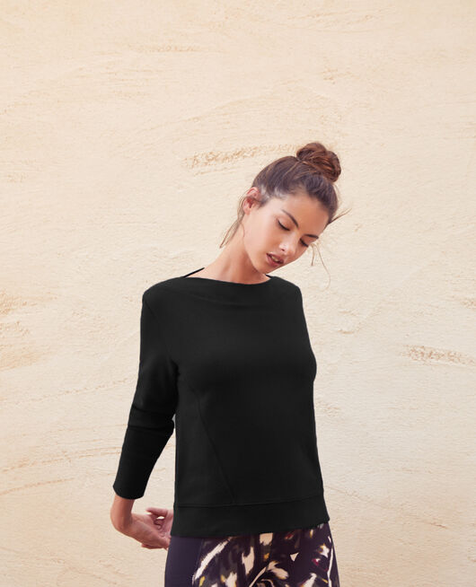 Sweat de sport Noir Yoga