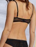 Demi-balconette bra Black Pure