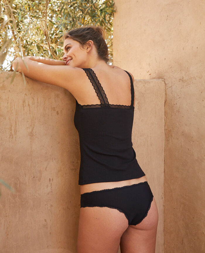 Culotte taille basse Noir Take away