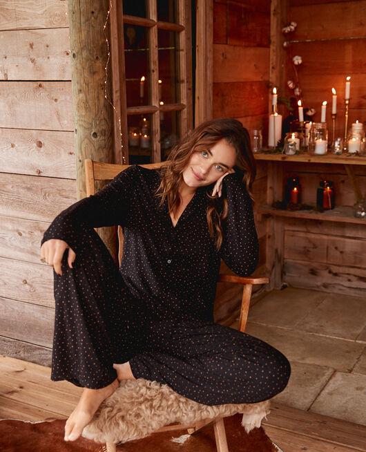 Veste de pyjama Stars noir Dimanche