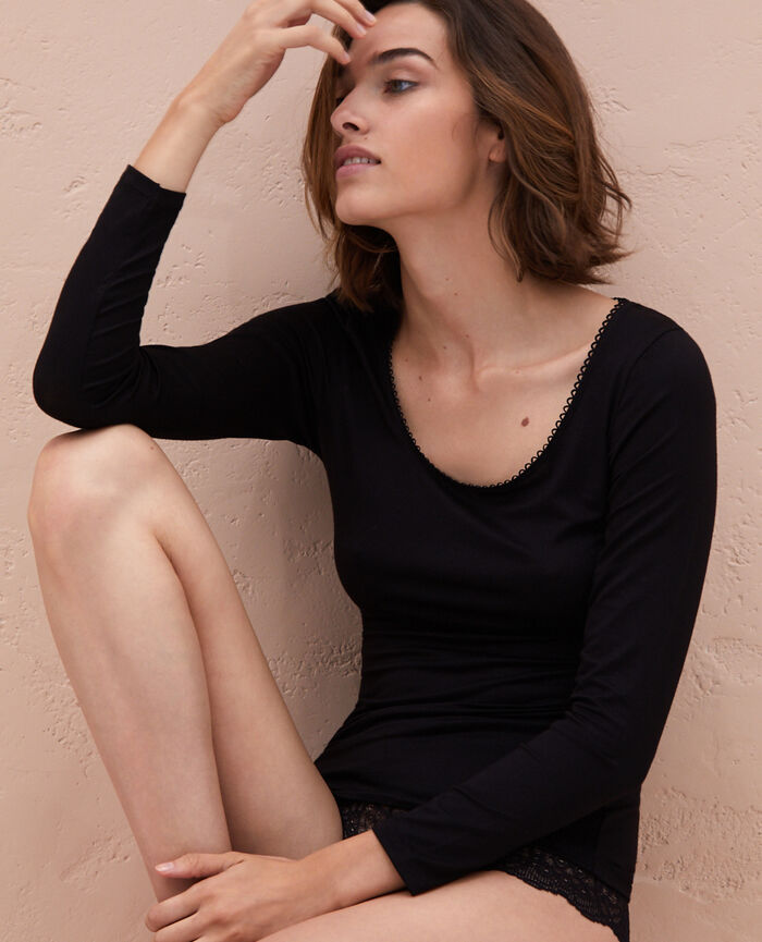 Top manches longues Noir Innerwear