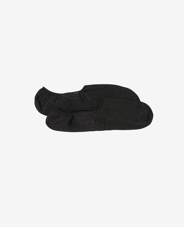 No-show socks Black Glitter