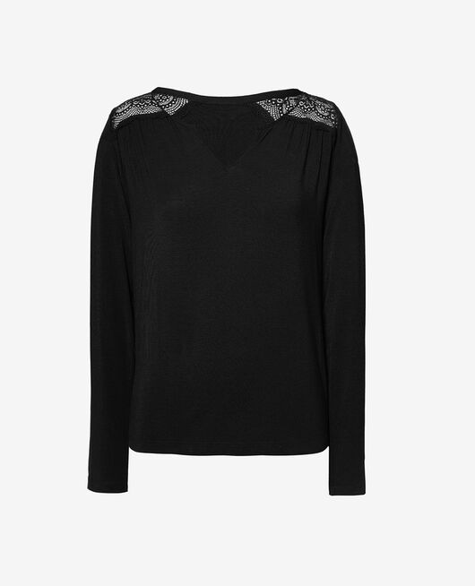 T-shirt manches longues Noir Reverie