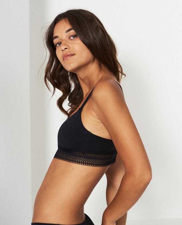 Soft bustier bra Black Coton