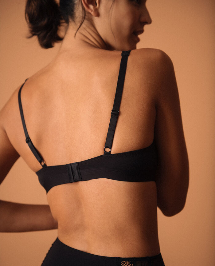 Soft cup bra Black Eclat - the feel good