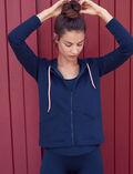 Veste de sport zipée Bleu marine Yoga