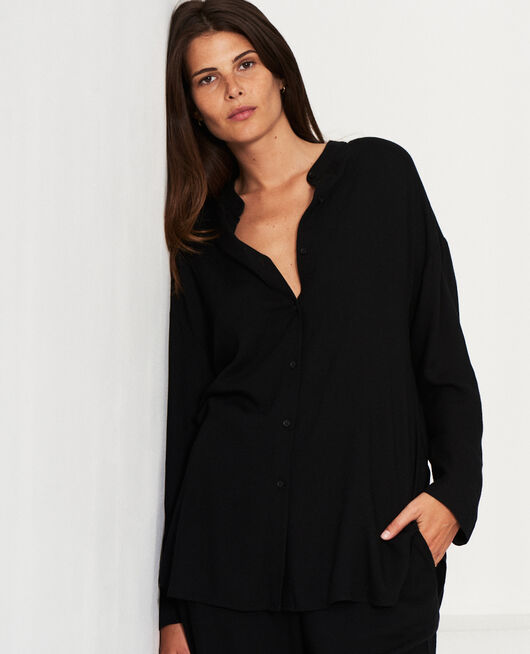 Long-sleeved tunic Black Pimpant