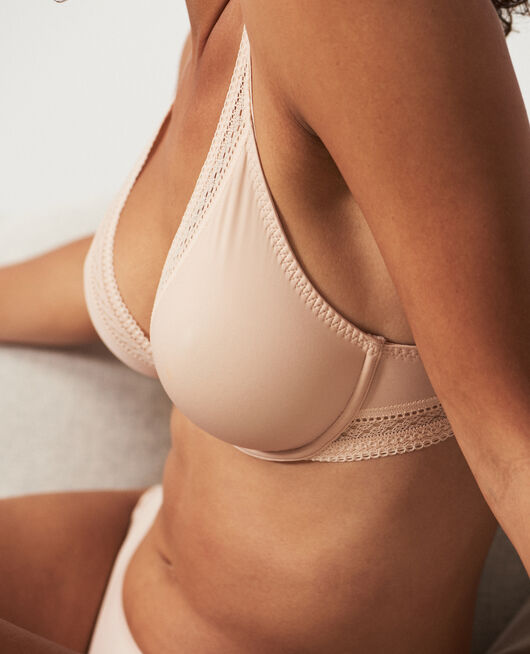 Underwired triangle bra Powder Eclat