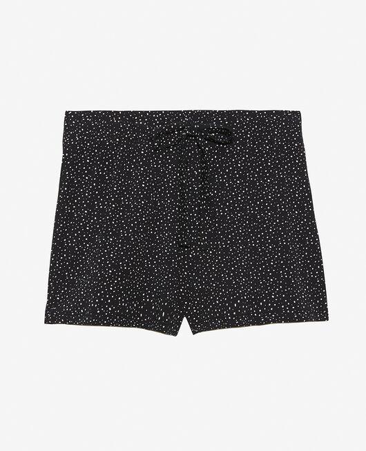 Short de pyjama Flocon noir Echo