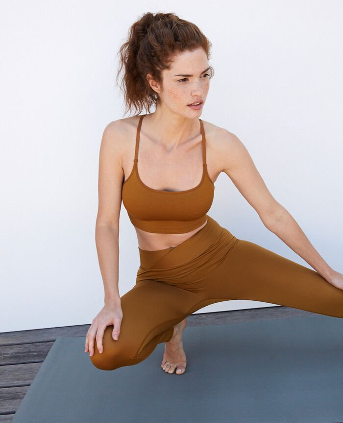 Sports bra light support Cocktail brown Yoga
