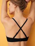 Soutien-gorge de bain triangle avec armatures Noir Andrea