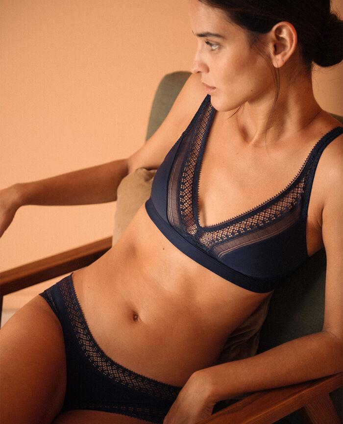 Soft cup bra Navy Eclat - the feel good