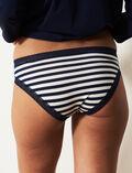 Culotte taille basse Rayure bleu marine Echo
