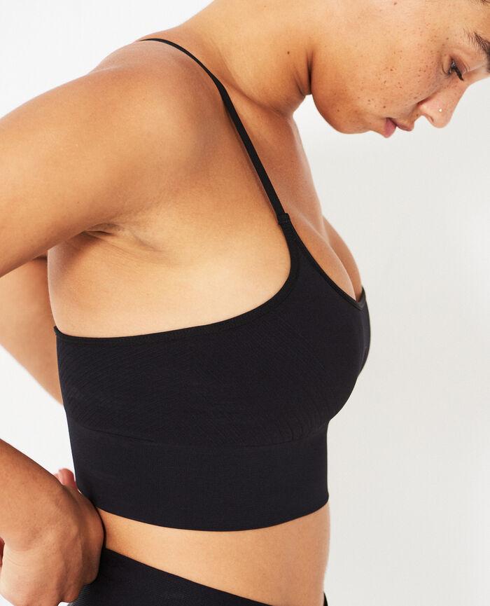 Sports bra light support Black Yoga