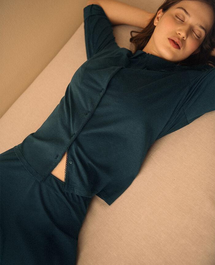 Veste de pyjama Vert nuit Bonne nuit