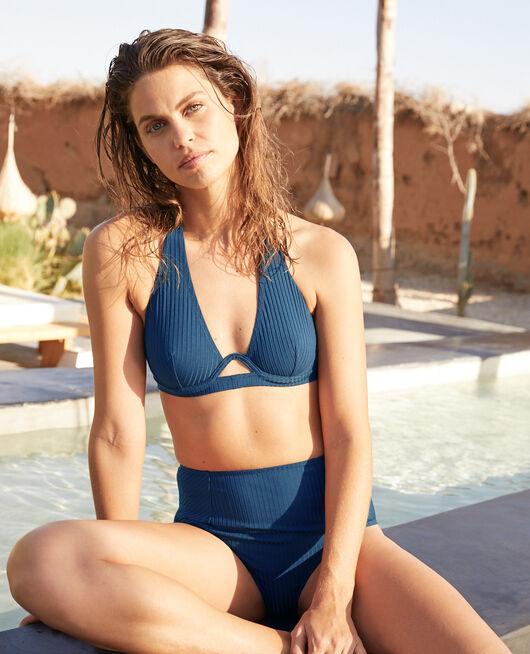 Maillot de bain triangle avec armatures Bleu sombrero Couture
