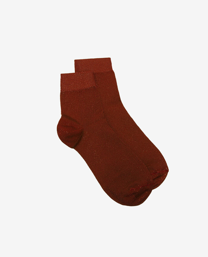 Socks Cognac brown Glow