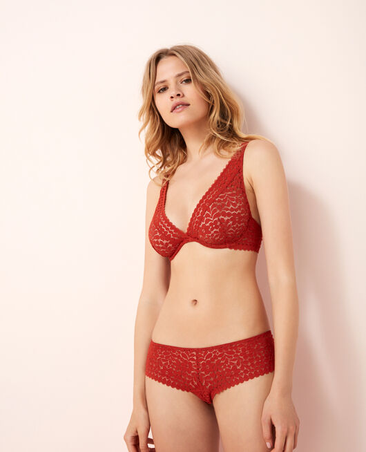 Shorty brésilien Rouge odalisque Monica