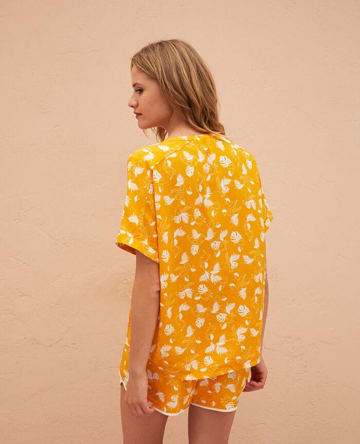 Veste de pyjama Hammam jaune Bahia