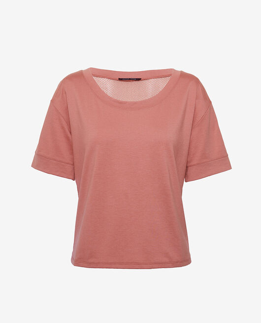 Sports short-sleeved t-shirt Dune pink Yoga resille