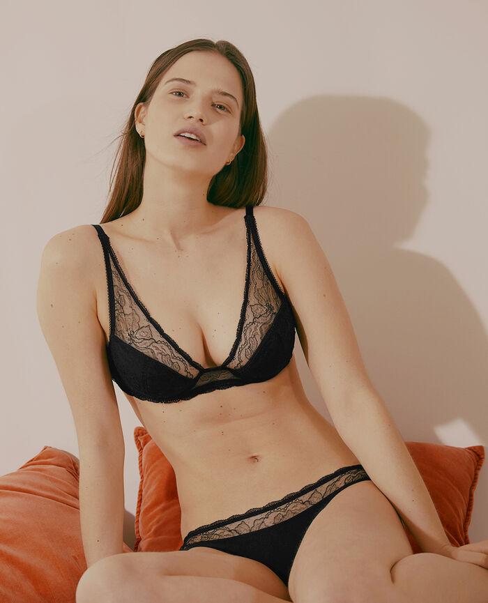 Special demi push-up bra Black Prestige
