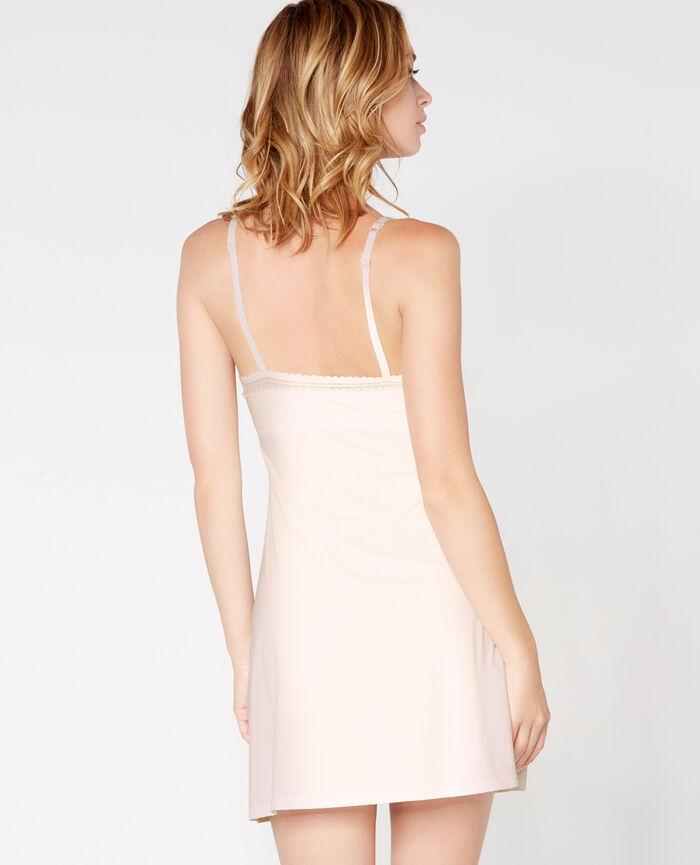 Robe avec soutien-gorge intégré Blanc rosé Beaute