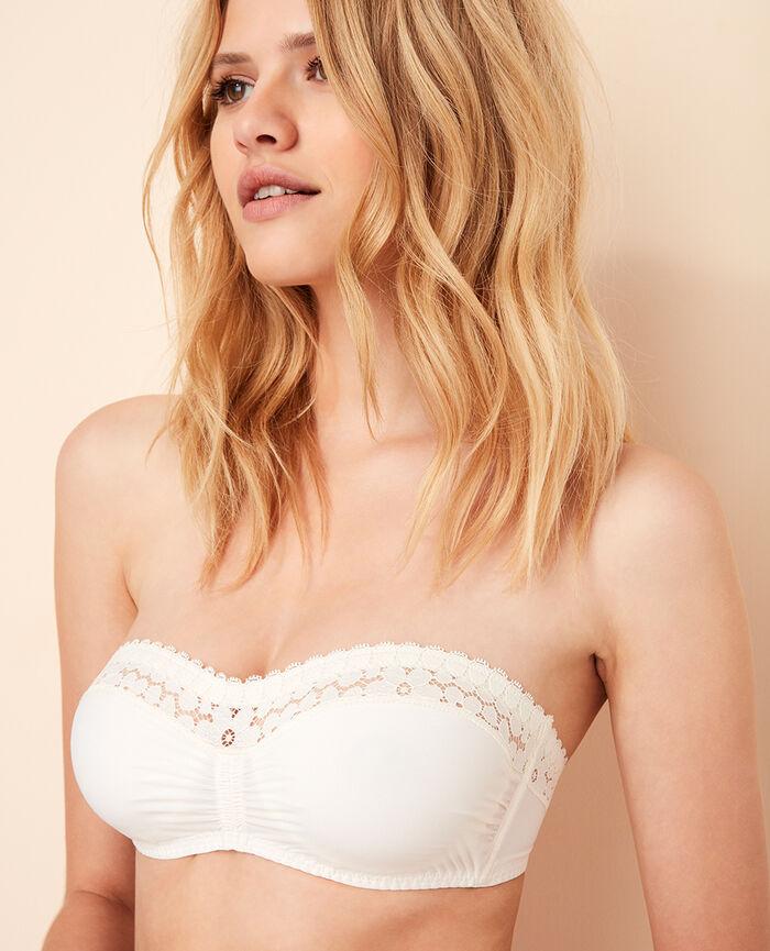Strapless bra Rose white Monica
