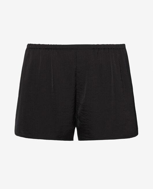 Short de pyjama Noir Minuit