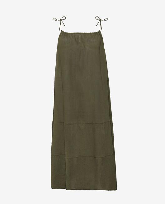 Long flared dress Casbah green Mellah