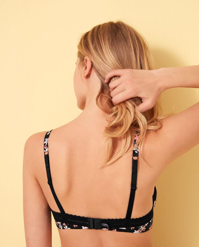 Underwired bra Pinted black ground Beaute