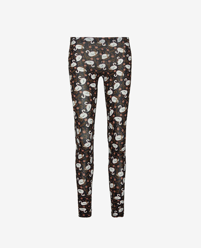 Leggings Swan black Tamtam shaker