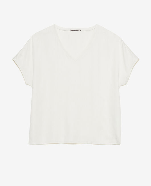 T-shirt manches courtes Blanc rosé Attitude