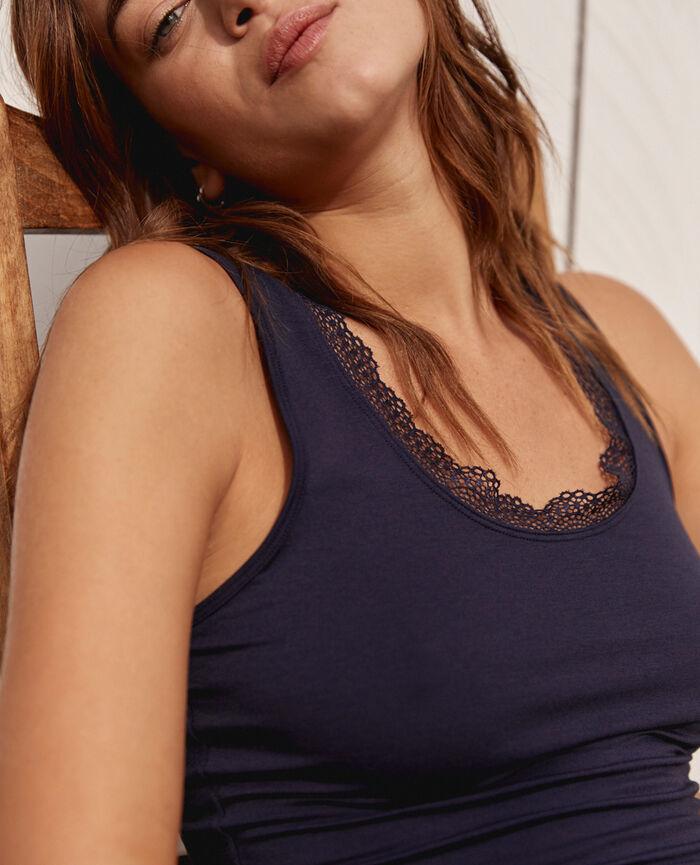 T-shirt sans manches Bleu marine Heattech© extra warm
