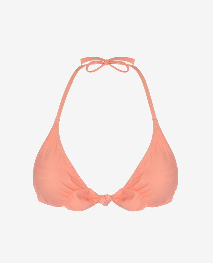 Padded triangle bikini top Grapefruit pink Nodo