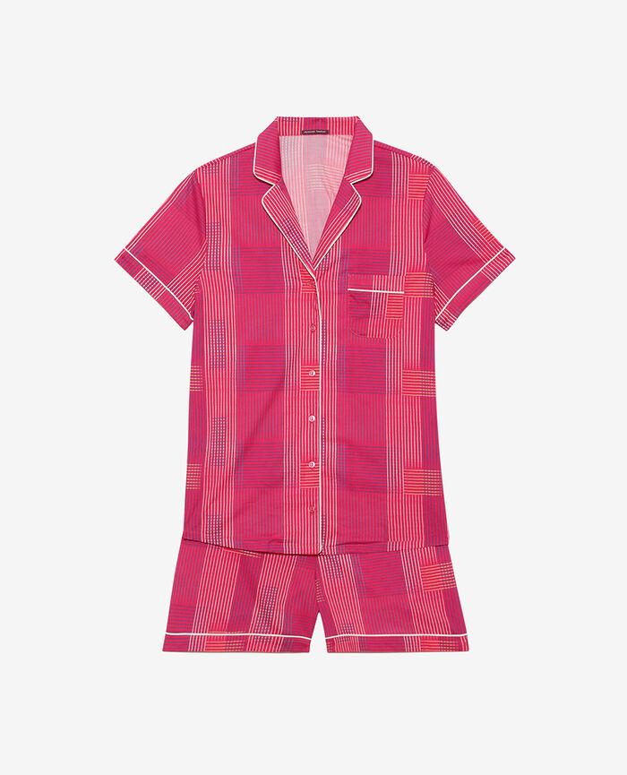 Set pyjama Trame rose fuchsia Tutti frutti
