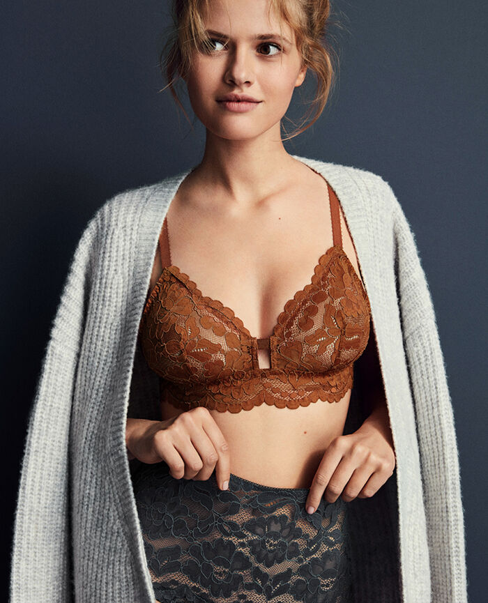 Soft cup bra Ginger bread Angelina
