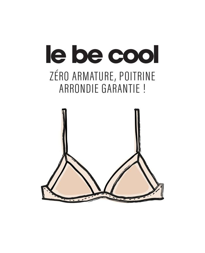 Soft cup bra Eucalyptus green Confetti - the be cool
