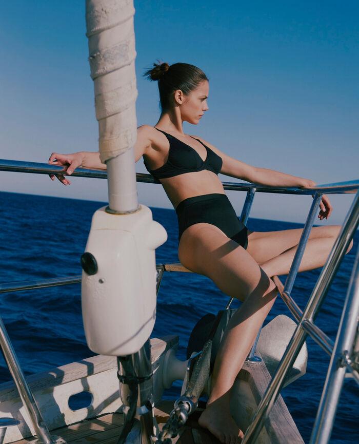 Underwired triangle bikini top Black Impala