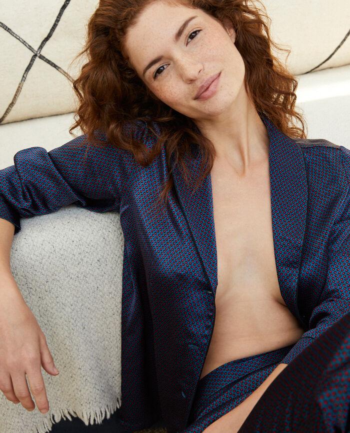 Veste de pyjama Pois bleu Aurore