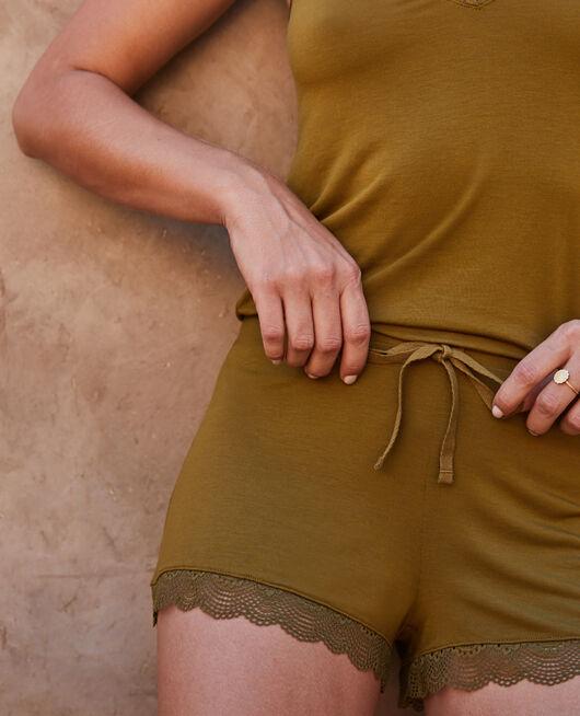 Pyjama shorts Green bowie Reverie